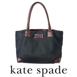 Kate Spade Nylon Brown Leather Stevie Tote